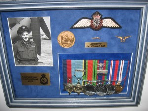 Barry's wartime picture, medals and Wings.